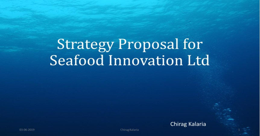 Stratey Proporal for Seafood